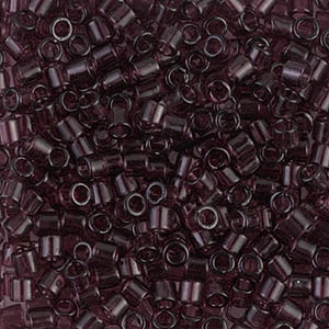 DB-2394 Fancy Lined Platinum : Charcoal Gray Miyuki 110 Delica Beads 5g