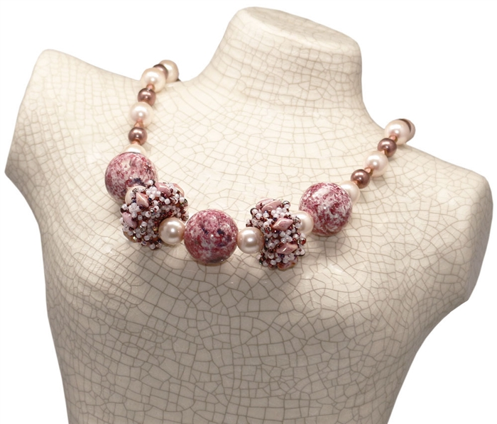 Red Panda Beads Originals Patterns Corona Beaded Bead Necklace Classy Beaded Necklace Patterns