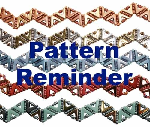 Deb Robertis Aztec Band Bracelet Pattern Reminder